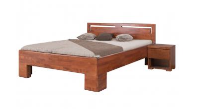 Manželská posteľ SOFIA čelo rovné s výrezmi L 180 cm, buk cink