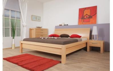 Manželská posteľ MANON s oblým čelom 180cm buk cink