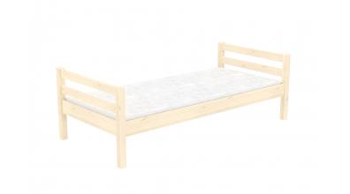 Jednolôžko bez zábrany, smrek, detská posteľ z masívu