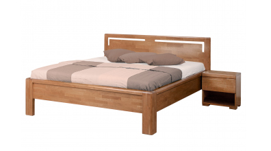 Manželská posteľ FLORENCIA čelo rovné s výrezmi L 180 cm, buk cink