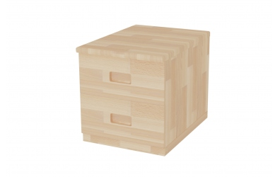 Skrinka zásuvková, 2 zásuvky - hĺbka 456, buk cink