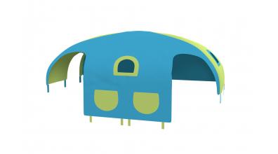 Domček stan vrecká pre delené čelo a zábranu A B ľavý tyrkysovo/zelený