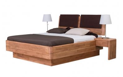 Manželská posteľ FANTAZIA GRANDE nastaviteľné čelo šikmé 180cm buk cink