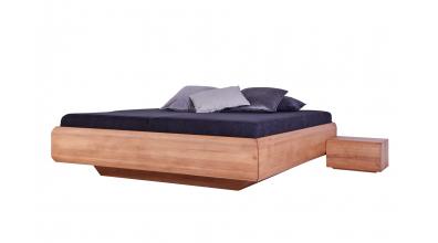 Manželská posteľ LEVITY bez čela - buk