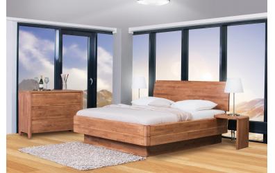 Manželská posteľ FANTAZIA GRANDE nastaviteľné čelo oblé 180cm dub cink