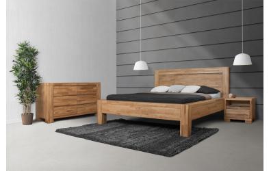 Manželská posteľ IMPERIA, čelo rovné 180 cm, dub cink