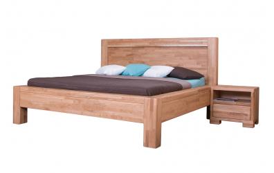 Manželská posteľ IMPERIA  čelo rovné 180 cm dub cink