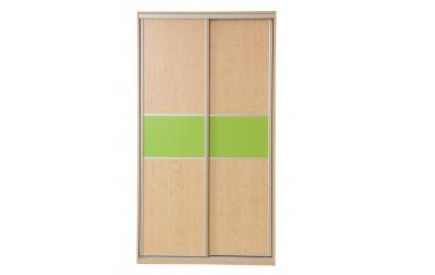 Skriňa s posuvnými dverami 120 cm lamino, dvierka smrek