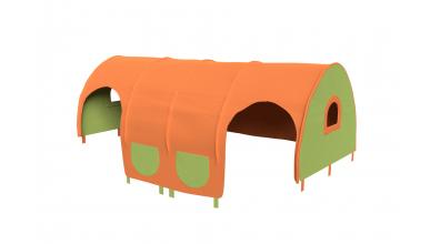 Domček tunel vrecká pre zábranu A B   zeleno/oranžový