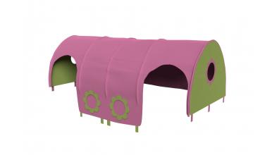 Domček tunel kvetinky pre zábranu A B ružovo/zelená