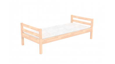 Jednolôžko bez zábrany, buk cink, detská posteľ z masívu