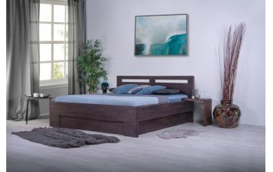 Manželská posteľ MESSINA 180cm buk cink