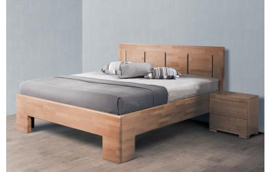 Manželská posteľ SOFIA čelo rovné 4 výplne 180 cm buk cink