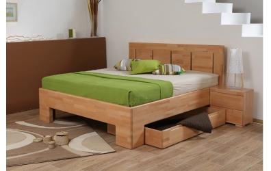 Manželská posteľ SOFIA  čelo rovné 4 výplňe 180cm buk cink