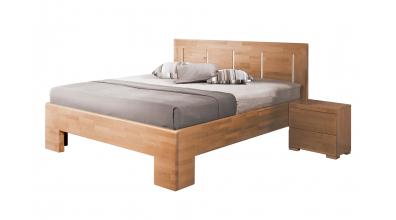 Manželská posteľ SOFIA čelo rovné, 4 výplne 180 cm, buk cink