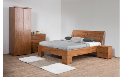 Manželská posteľ SOFIA čelo oblé 3 výplne 180 cm buk cink