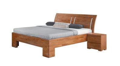 Manželská posteľ SOFIA čelo oblé, 3 výplne 180 cm, buk cink