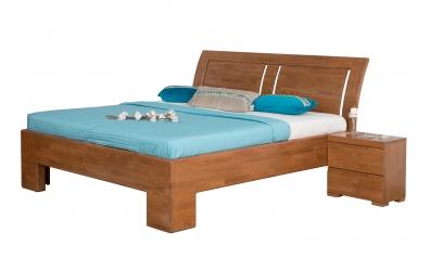 Manželská posteľ SOFIA  čelo oblé 3 výplňe 180cm buk cink