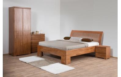 Manželská posteľ SOFIA  čelo oblé latkové 180cm buk cink