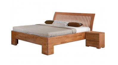 Manželská posteľ SOFIA čelo oblé latkové 180 cm, buk cink