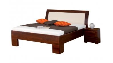 Manželská posteľ SOFIA  čelo oblé čalúnené 180cm buk cink