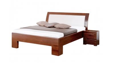 Manželská posteľ SOFIA čelo oblé, čalúnené 180 cm, buk cink