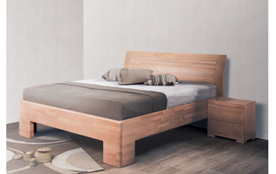 Manželská posteľ SOFIA  čelo oblé plné 180cm buk cink