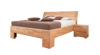 Manželská posteľ SOFIA čelo oblé, plné 180 cm, buk cink
