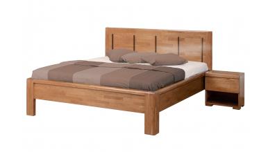 Manželská posteľ FLORENCIA čelo rovné, 4 výplne 180 cm, buk cink