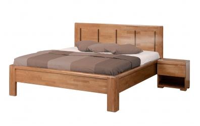 Manželská posteľ FLORENCIA  čelo rovné 4 výplňe 180cm buk cink