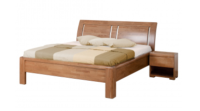Manželská posteľ FLORENCIA čelo oblé, 3 výplne 180 cm, buk cink