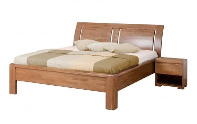 Manželská posteľ FLORENCIA čelo oblé 3 výplne 180 cm buk cink