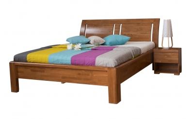 Manželská posteľ FLORENCIA  čelo oblé 3 výplňe 180cm buk cink