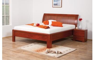 Manželská posteľ FLORENCIA  čelo oblé latkové 180cm buk cink