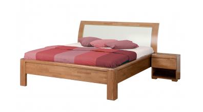 Manželská posteľ FLORENCIA čelo oblé, čalúnené 180 cm, buk cink