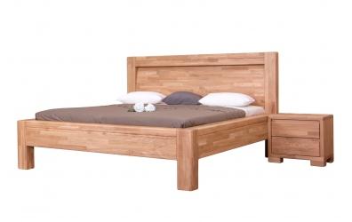 Manželská posteľ IMPERIA  čelo oblé 180 cm dub cink