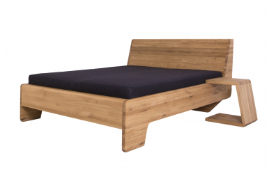 Manželská posteľ KUPÉ, divoký dub