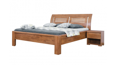 Manželská posteľ FLORENCIA čelo oblé 2 výplne 160 cm, buk cink