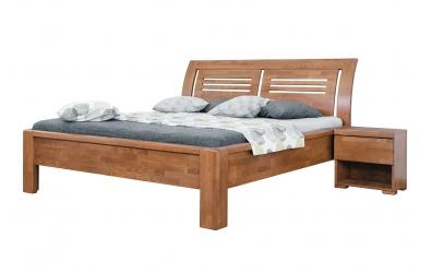 Manželská posteľ FLORENCIA  čelo oblé 2 výplňe 160cm buk cink