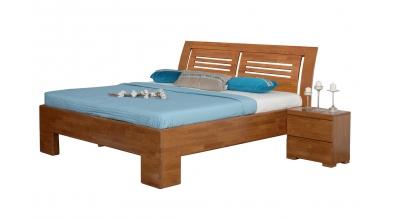 Manželská posteľ SOFIA  čelo oblé 2 výplňe 160cm buk cink