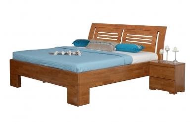 Manželská posteľ SOFIA čelo oblé 2 výplne 160 cm buk cink