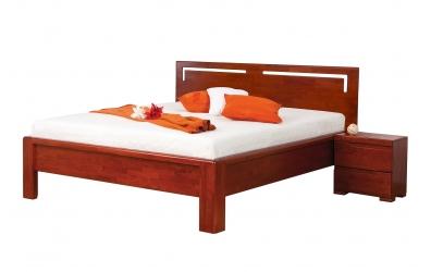 Manželská posteľ FLORENCIA  čelo rovné s výrezmi L 160cm buk cink