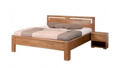 Manželská posteľ FLORENCIA čelo rovné s výrezmi L 160 cm, buk cink