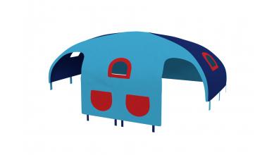 Domček stan vrecká pre zábranu A B tyrkysovo/modrý