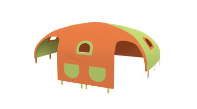 Domček stan vrecká pre zábranu A B zeleno/oranžový