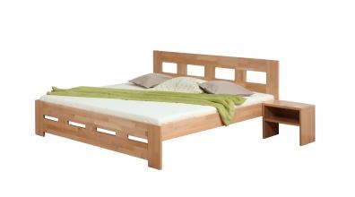 Manželská posteľ MERIDA 180 cm buk cink