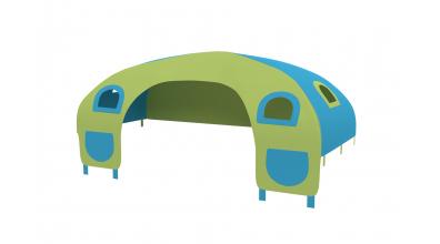 Domček stan vrecká pre zábranu C tyrkysovo/zelený