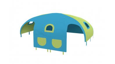 Domček stan vrecká pre zábranu A B tyrkysovo/zelený