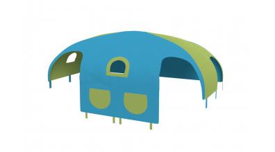Domček stan pre delené čelo a zábranu A B  pravý - tyrkysovo zelený