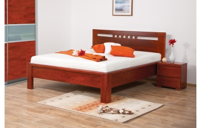 Manželská posteľ FLORENCIA  čelo rovné štvorčeky 160cm buk cink